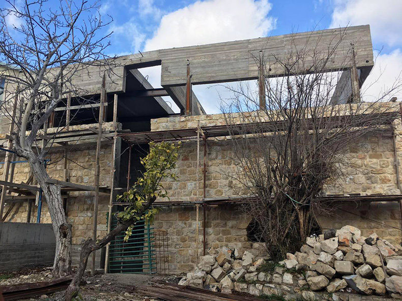 Renovation Of An Old Stone Building In Safed