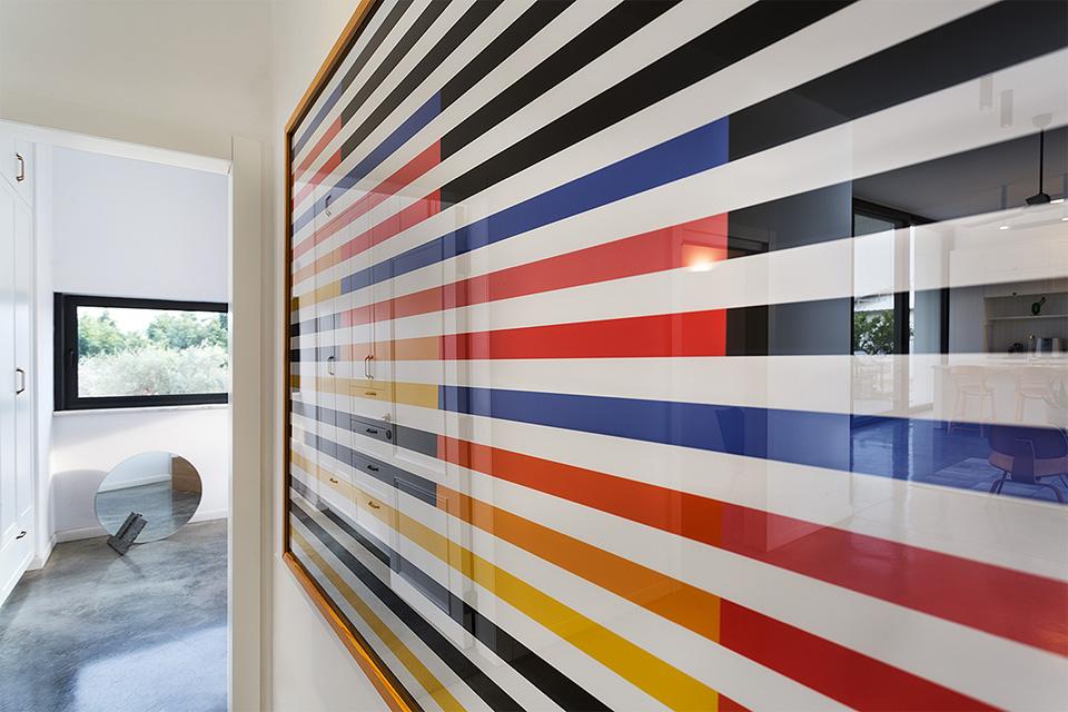 קיר מעבר מעוצב שלל צבעים